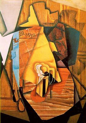 Хуан Грис. Мужчина в кафе