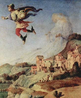 Пьеро ди Козимо. Персей освобождает Андромеду. Деталь: Персей