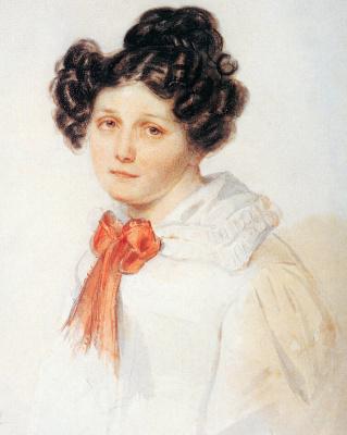 Peter Fedorovich Sokolov. Praskovya Yegorovna Annenkov. 1825