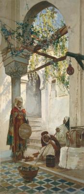 Валерий Иванович Якоби. У входа в мечеть. 1883