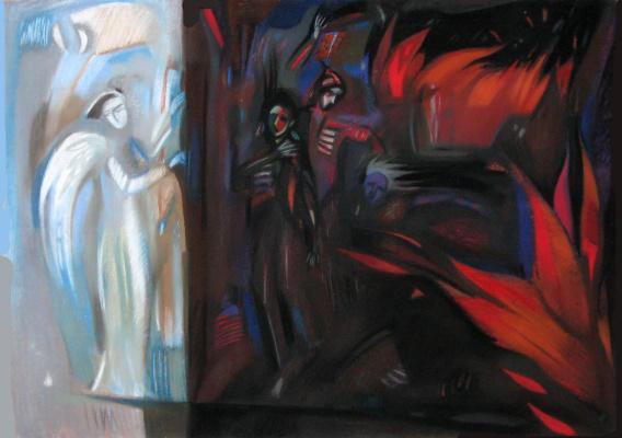 Rumyana Vnukova. Angel locking the gates of hell