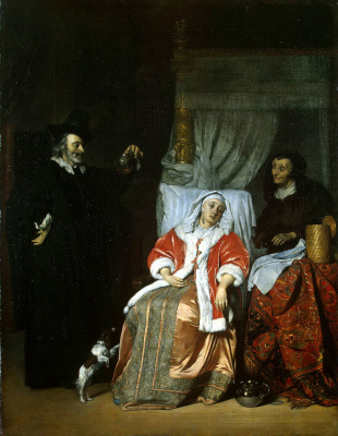 Gabrielle Metsu. The patient and the doctor