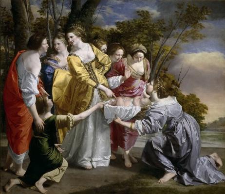 Orazio Gentileski. The Finding Of Moses