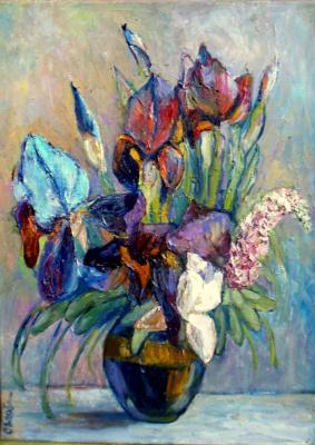 Olga Ogloblina. Irises