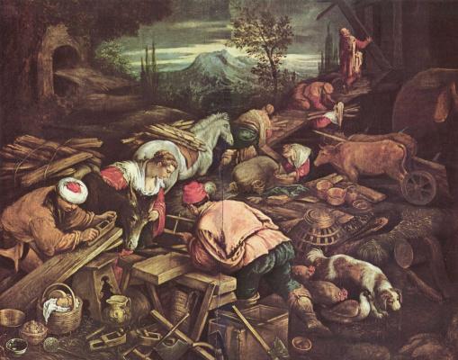 Якопо да Понте. Строительство Ноева ковчега
