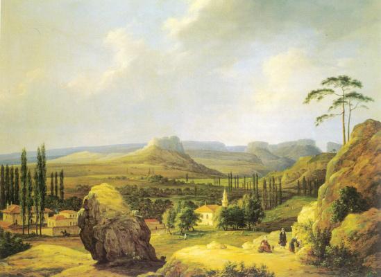 Nikanor Grigorievich Chernetsov. View Karalezskaja valley on the southern shore of the Crimea