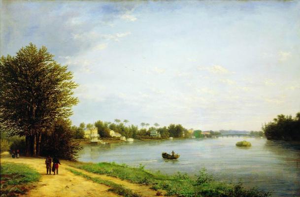 Никанор Григорьевич Чернецов. Вид на Елагин остров в Петербурге.  63 x 97  см.