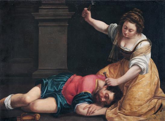 Artemisia Gentileschi. Jael and Sisara