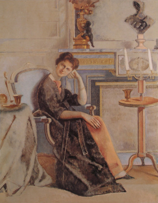 Balthus (Balthasar Klossovsky de Rola). Portrait of Baroness Alyona de Rothschild