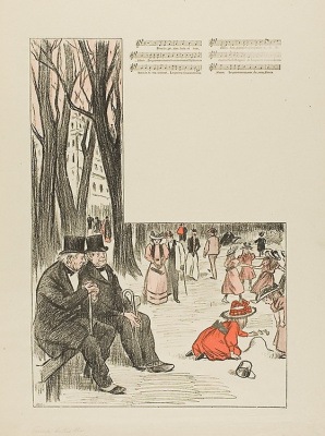 Theophile-Alexander Steinlen. The song is about the poor elderly