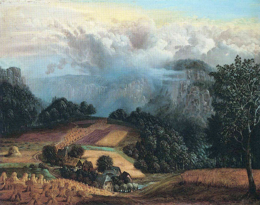 Otto Dix. Landscape with clouds