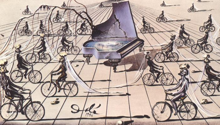 Salvador Dali. Sentimental colloquy. Etude
