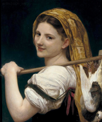 William-Adolphe Bouguereau. The return from the market