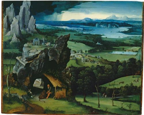 Иоахим Патинир. Пейзаж со Святым Иеронимом