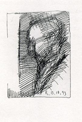 "Gerhard Richter. Self-portrait 1 (Series ""100 self-portraits"")"