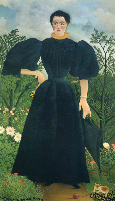 Henri Rousseau. The woman in black