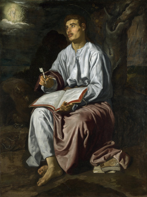 Diego Velazquez. Saint John the Evangelist on Patmos