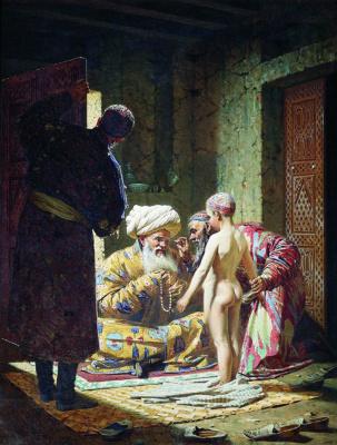 Vasily Vasilyevich Vereshchagin. Selling a child-slave