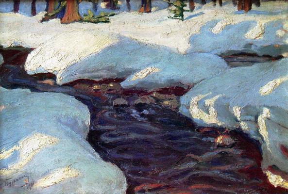 Николай Григорьевич Бурачек. Stream in the Carpathians