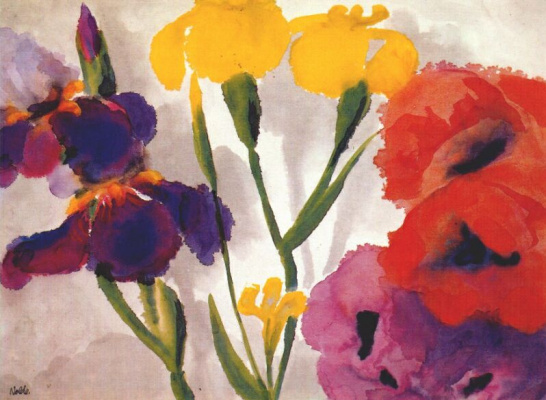 Emil Nolde. Irises and poppies