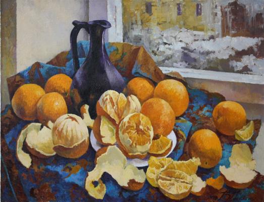 Виктор Довбенко. Апельсины у окна.   2016