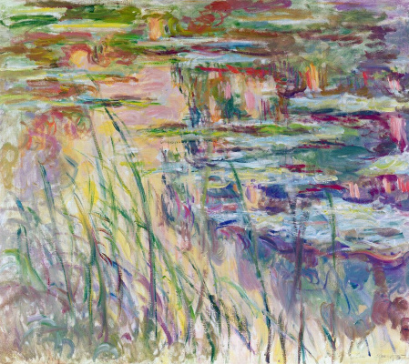 Claude Monet. Lilies. The reflection on the water