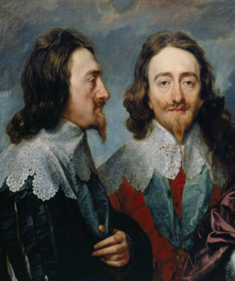 Anthony van Dyck. Triple portrait of Charles I, king of England (detail)