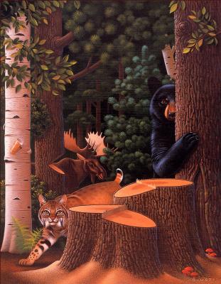 Роберт Гисти. Срезанные деревья
