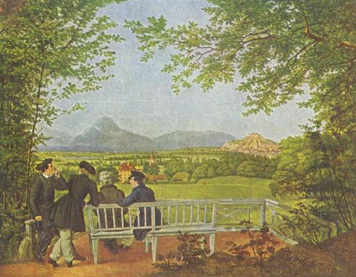 Юлиус Шнорр фон Карольсфельд. Вид на Зальцбург