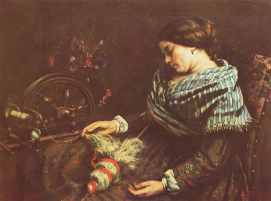 Gustave Courbet. The sleeping spinner