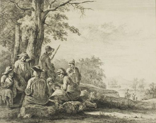 Жан-Жак де Буассье. Семья на природе