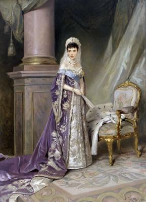 Vladimir Egorovich Makovsky. Portrait of Empress Maria Feodorovna