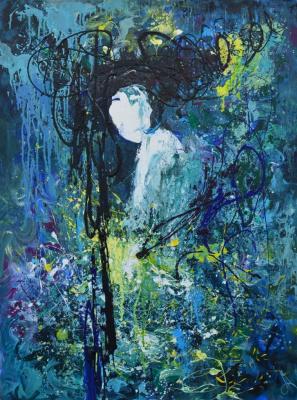 """Tanya Vasilenko. The """"Eastern mystery"""". Acrylic. Canvas. Eastern sacrament. Acrylic on Canvas."""