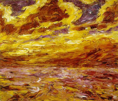 Emil Nolde. Autumn sea