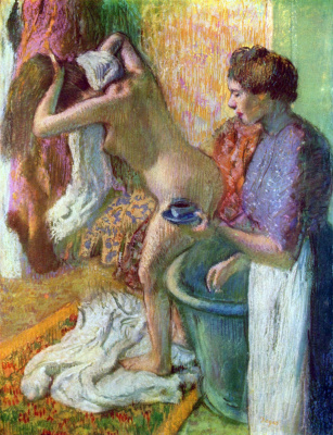 Edgar Degas. Breakfast after bathing