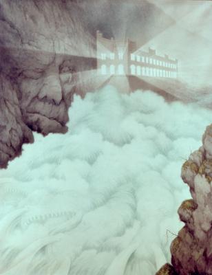 """Теодор Северин Киттельсен. Водопад Свельгфос. Из серии """"Сказки водопада"""""""