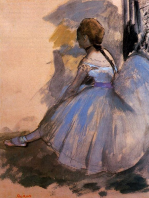 Edgar Degas. Seated dancer