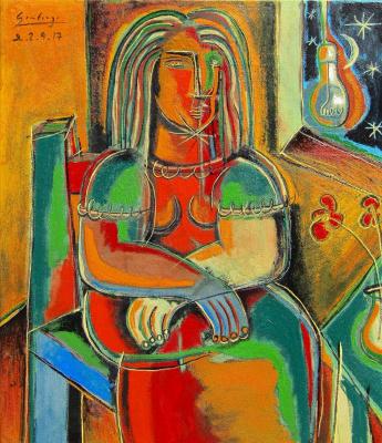 Arturo Carmona. Сидящая женщина