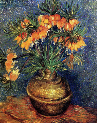 Vincent van Gogh. Flowers in copper vase