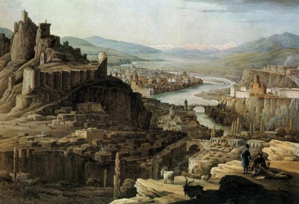 Никанор Григорьевич Чернецов. Вид Тифлиса.  1830