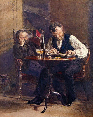 Thomas Eakins. Playing the zither