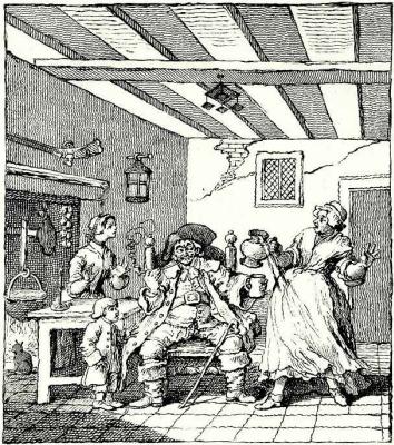 William Hogarth. Return of the peasants