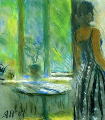 Tetyana Yablonska. Gayane and green window