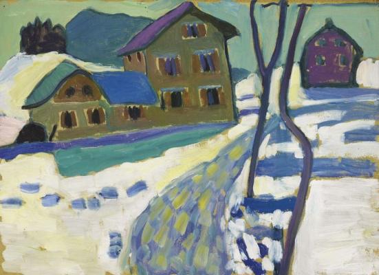 Gabriele Münter. Winter landscape in Kochel
