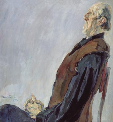 Pavel Dmitrievich Korin Russia 1892 - 1967. Portrait of M. K. Kholmogorov. State Museum of Art of the Republic of Kazakhstan. Abylkhana Kasteeva, Alma-Ata