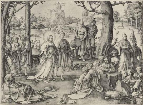 Lucas van Leiden (Luke of Leiden). Dance Of Mary Magdalene