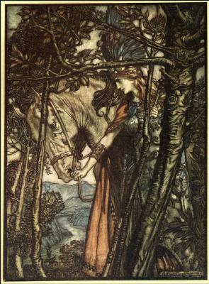 Arthur Rackham. Brünnhilde
