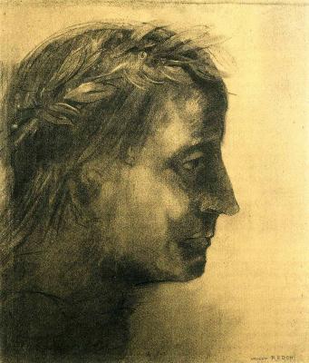Odilon Redon. The head of the winner