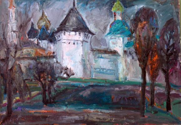 Ekaterina Konstantinovna Krestyaninova. Landscape with a monastery