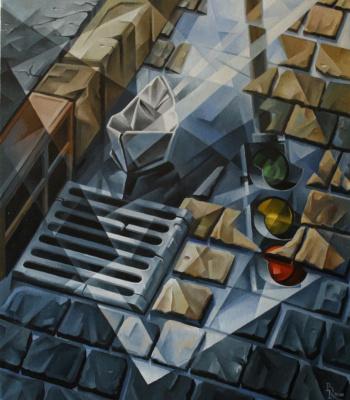 Vasily Krotkov. A paper boat. Kubofuturizm